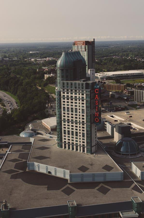 Fallsview赌博娱乐场手段尼亚加拉大瀑布加拿大 库存照片