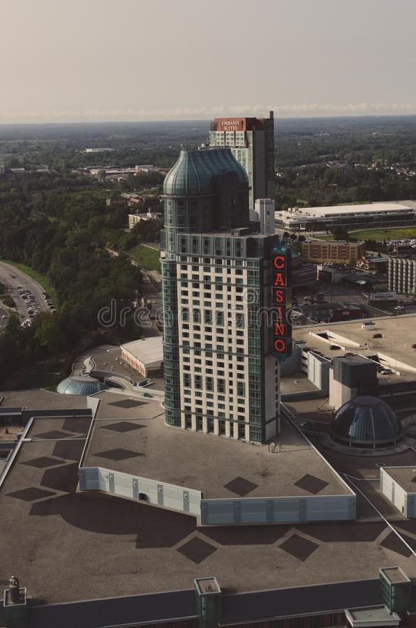 Fallsview kasinosemesterort Niagara Falls Kanada arkivfoton