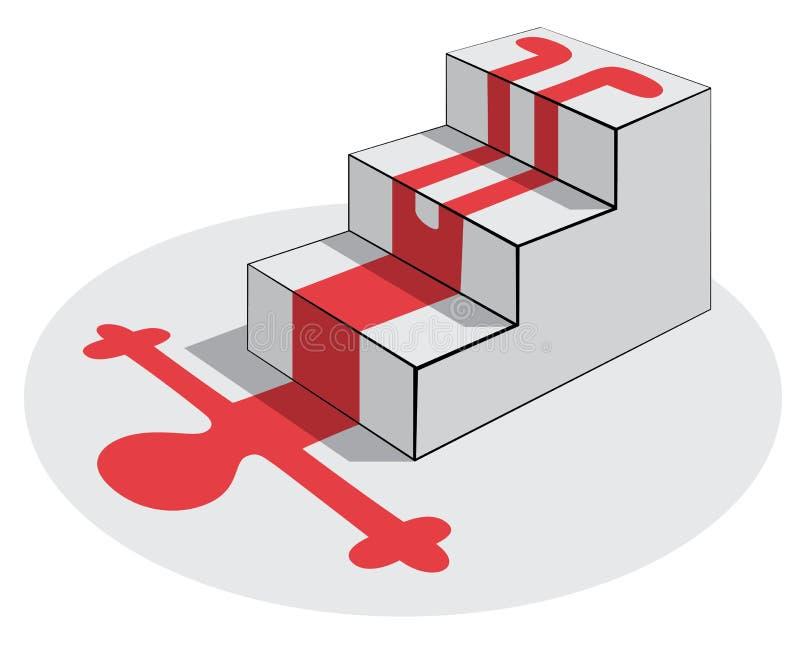 falltrappuppgång vektor illustrationer