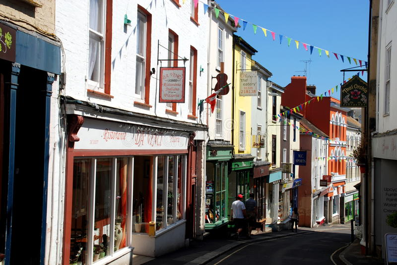 Falmouth, Angleterre : Prince Street Shops photographie stock