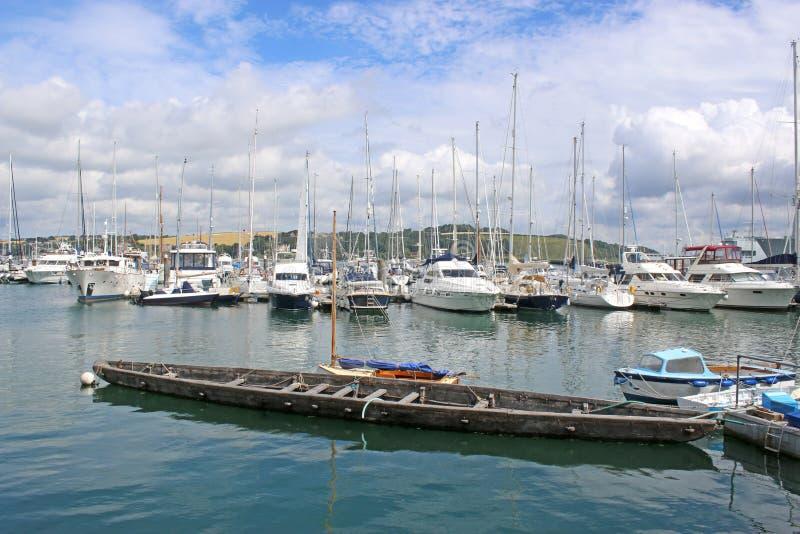 Falmouth hamn, Cornwall royaltyfri bild