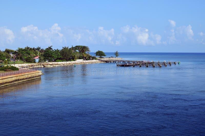 Falmouth, Jamajka, niebieskie niebo i morze, zdjęcia royalty free