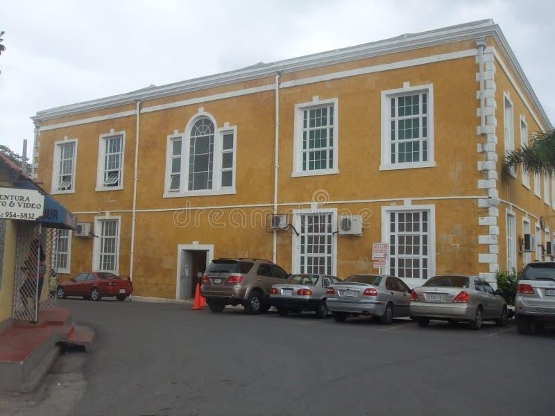 Falmouth Jamajka Tylni widok gmach sądu zdjęcie royalty free