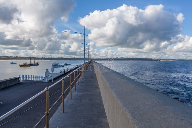Falochron, damy zatoka, Warrnambool, Australia zdjęcia stock