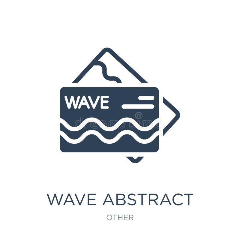 falowa abstrakcjonistyczna wizytówki ikona w modnym projekta stylu falowa abstrakcjonistyczna wizytówki ikona odizolowywająca na  ilustracji