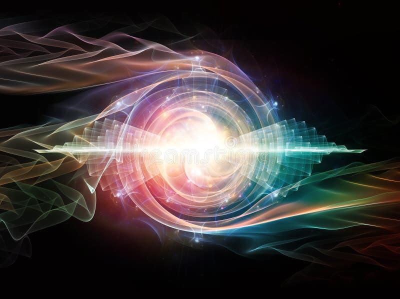 Falowa cząsteczka ilustracji