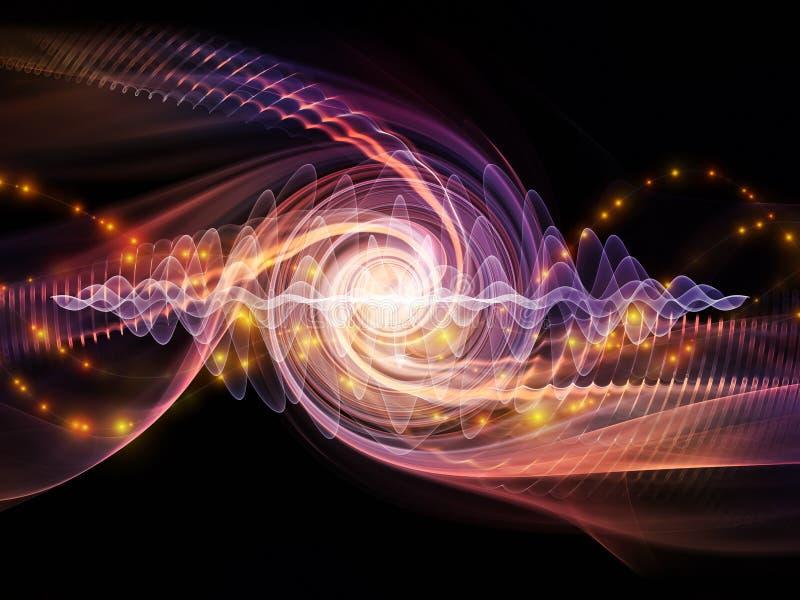 Falowa cząsteczka ilustracja wektor