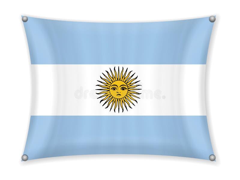 Falowania Argentyna flaga ilustracji