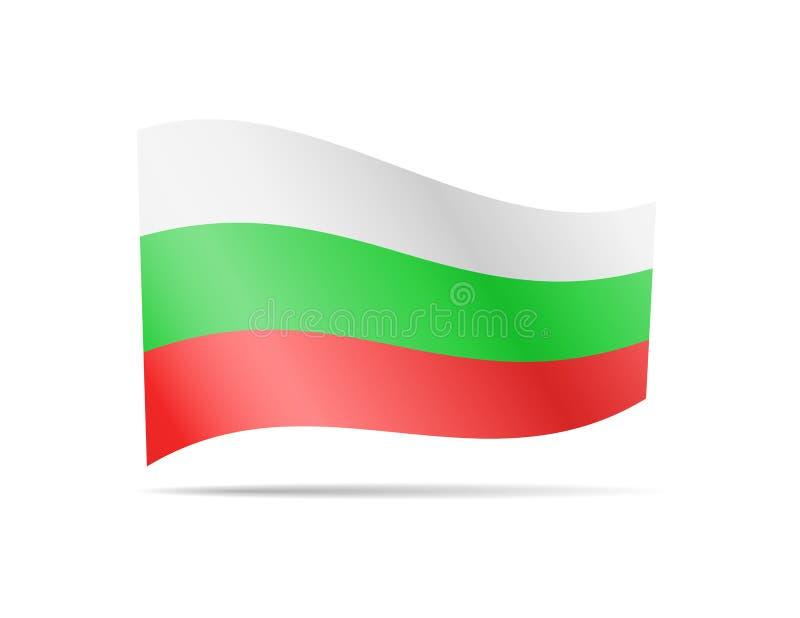 Falowania Bułgaria flaga w wiatrze royalty ilustracja