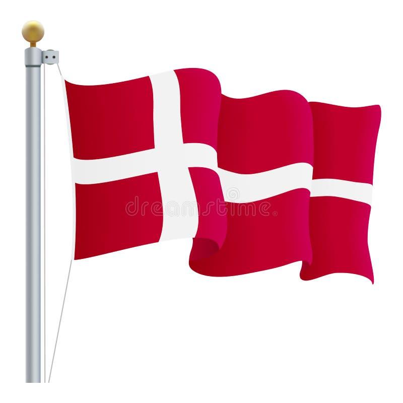 Falowania Dani flaga Odizolowywająca Na Białym tle również zwrócić corel ilustracji wektora ilustracji