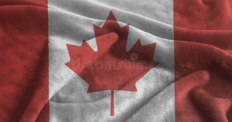 Falowania Kanada flaga fotografia royalty free