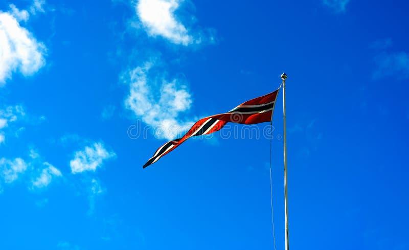 Falowania Norwegia flaga tło obraz stock