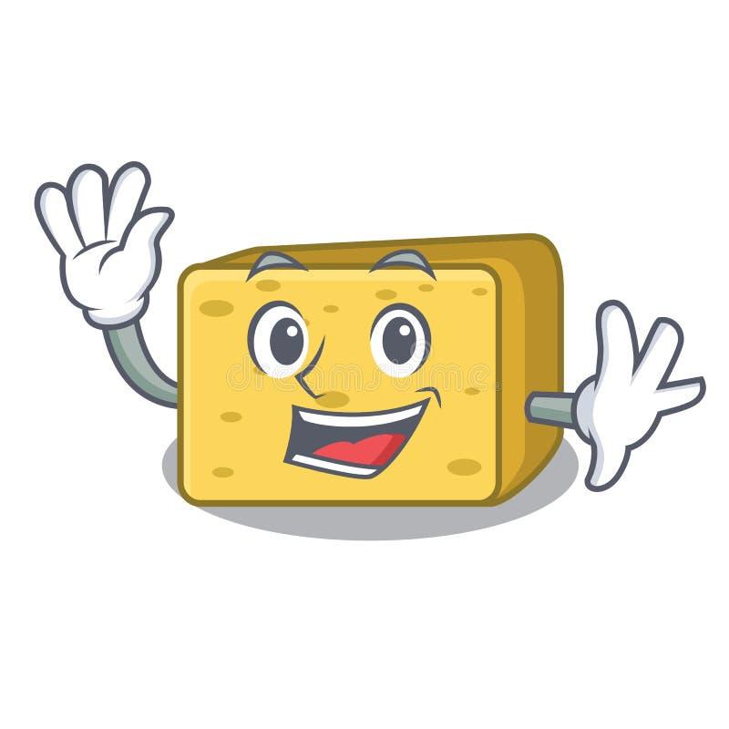 Falowanie charakteru gouda świeży ser ilustracja wektor