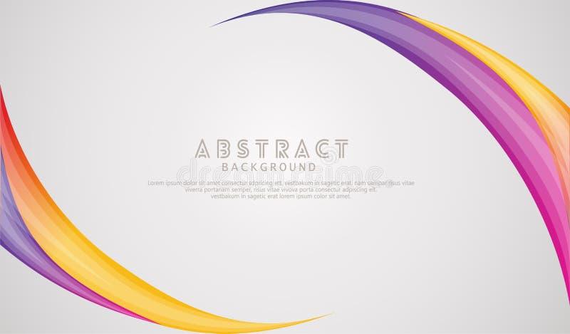 Falowanie elegancji abstrakcjonistyczny t?o z dynamicznym gradacja kolorem ilustracji