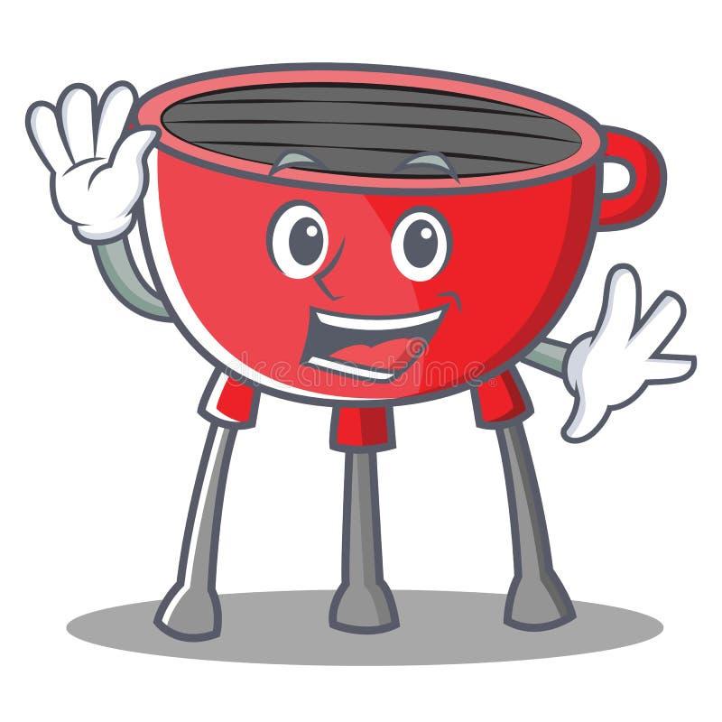 Falowanie grilla grilla postać z kreskówki ilustracja wektor