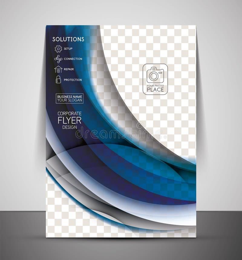 Falowy abstrakcjonistyczny korporacyjny ulotka druku projekt ilustracja wektor