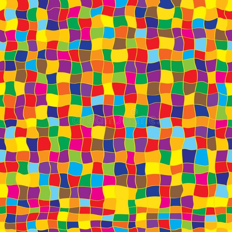 Falowy kwadratowy bezszwowy wzór ilustracja wektor