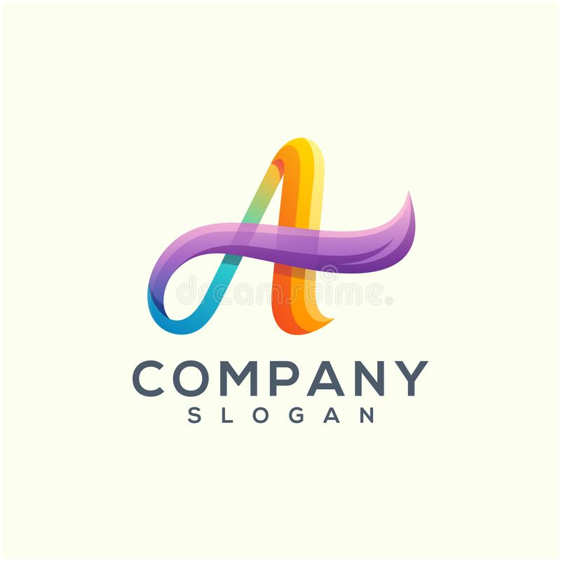 Falowy logo projekt czytający używa ilustracja wektor