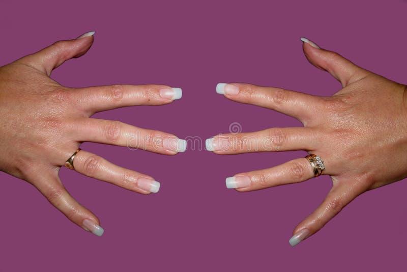 Falsche Fingernägel Lizenzfreie Stockbilder