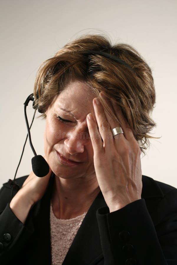 Falsche Kopfschmerzen Lizenzfreie Stockbilder