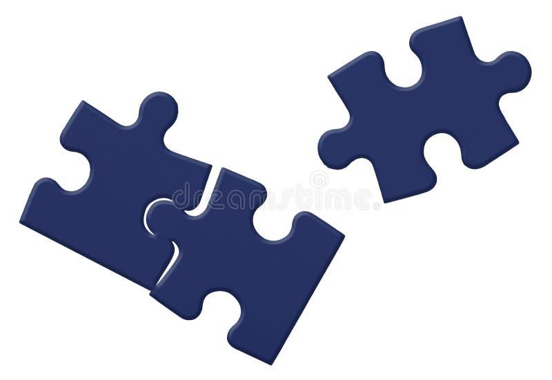 Falsche Puzzlespiel-Stücke lizenzfreie abbildung