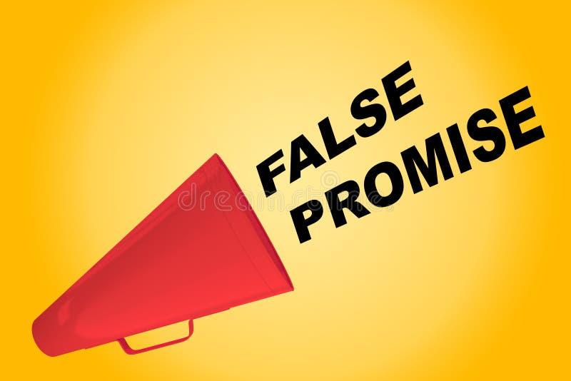 Falsches Versprechenkonzept lizenzfreie abbildung