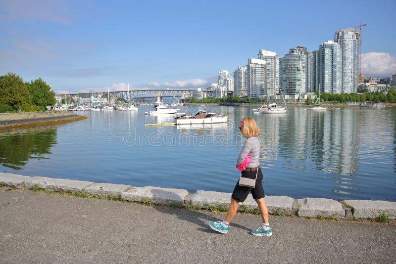 False Creek в Ванкувере, Канаде стоковая фотография