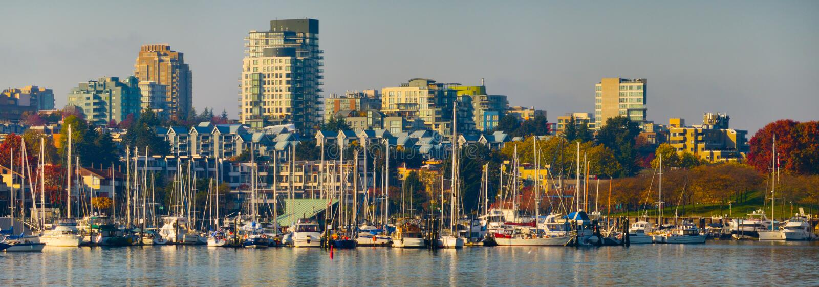 Vancouver False Creek royalty free stock images