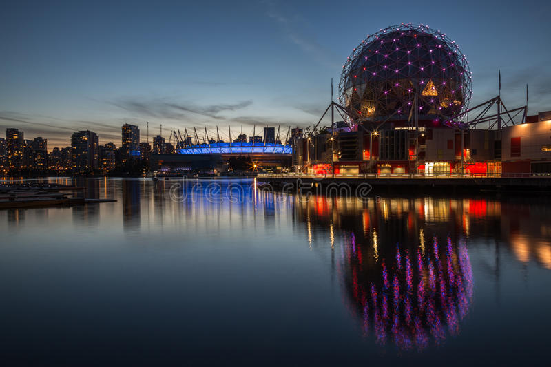 False Creek i stadens centrum Vancouver royaltyfria bilder