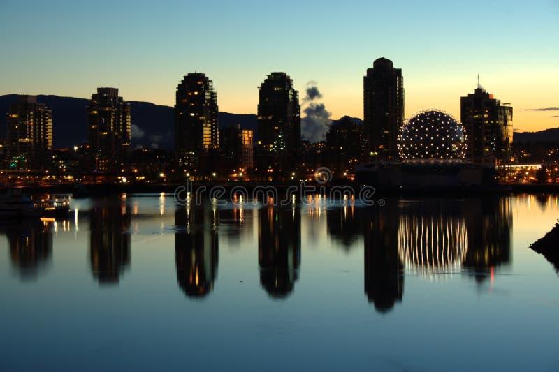 Download False Creek, Sunrise stock image. Image of lights, buildings - 17949965