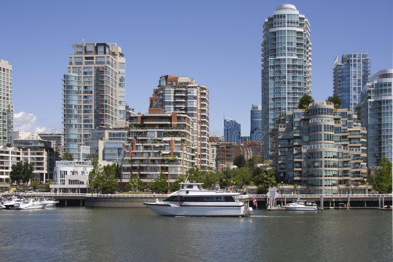 False Creek in Vancouver royalty free stock photos