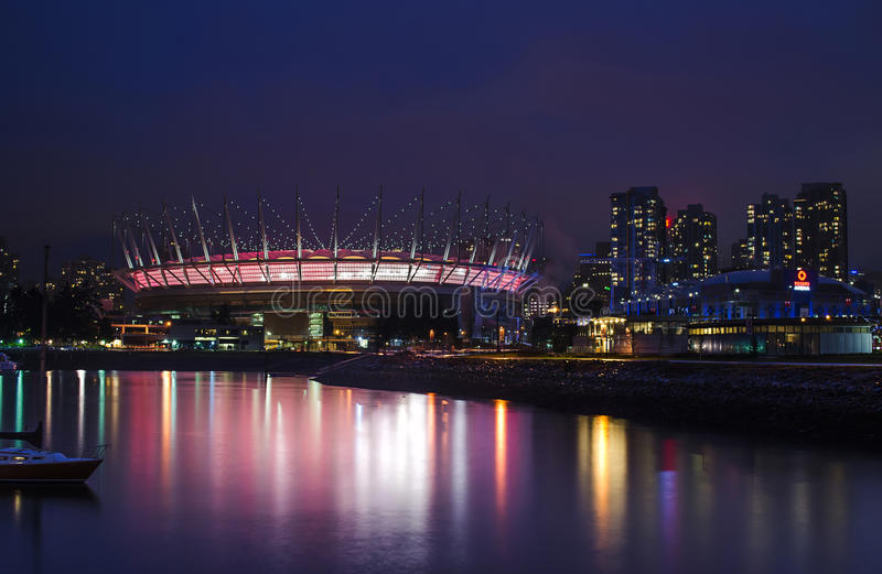 FALSE CREEK, VANCOUVER - BC Place Stadium photographie stock