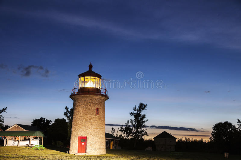 False Duck Island Lighthouse. In Milford, Ontario, Canada royalty free stock image