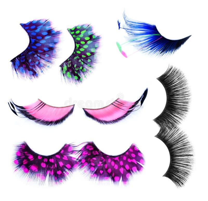 False Eyelashes. Set over white. Makeup Concept vector illustration