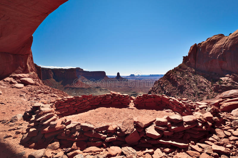 False Kiva, Canyonlands National Park stock photos