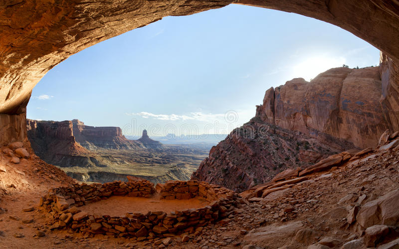 False Kiva, Canyonlands National Park stock images