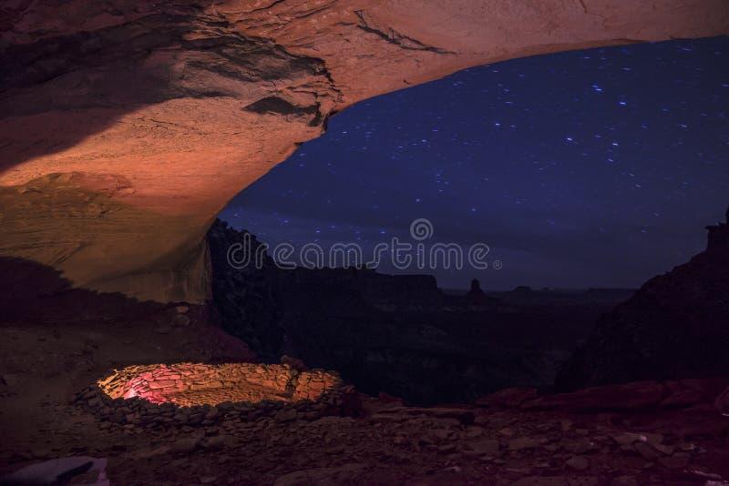 False Kiva at Night with starry sky royalty free stock image