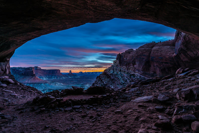 False Kiva after Sunset royalty free stock photography