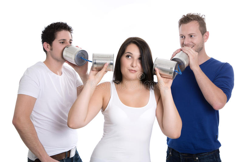 Falsehood or truth - advantages and disadvantages - group of you. Ng people - isolated stock photography