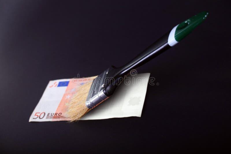 Falsificação da eurodivisa foto de stock