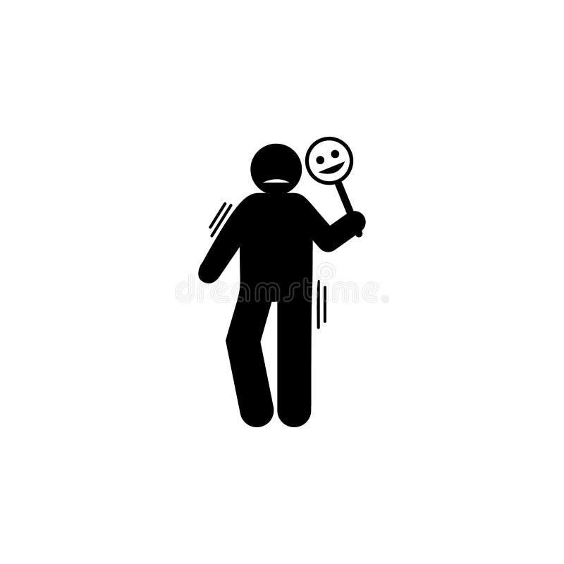 Falsificazione, persona, icona di personalit? Elemento dell'icona negativa di tratti di carattere Icona premio di progettazione g illustrazione di stock