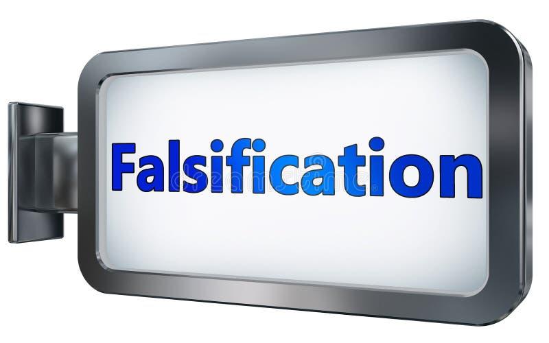 Falsificazione sul tabellone per le affissioni illustrazione vettoriale