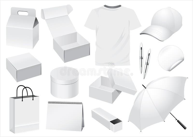 falsk emballage souvenirvektor vektor illustrationer