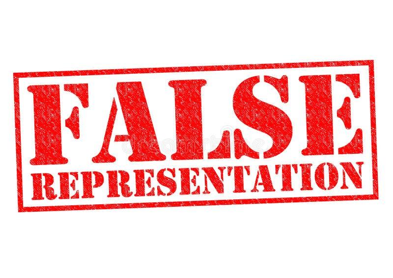 FALSK FRAMSTÄLLNING stock illustrationer