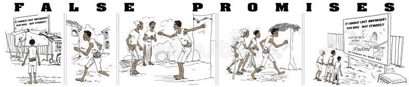 falska löften vektor illustrationer