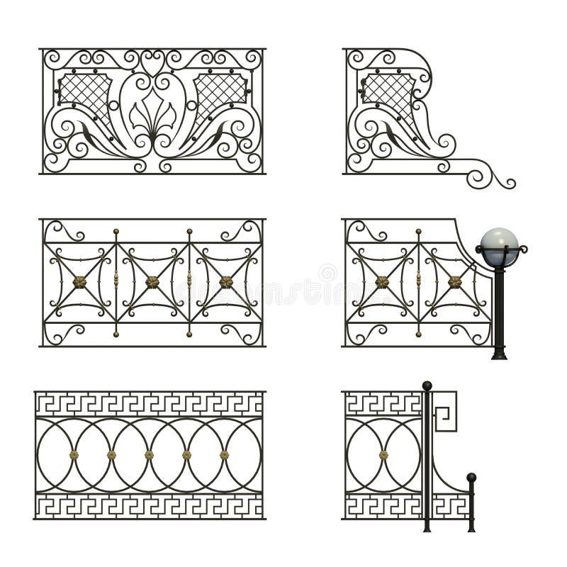 Falskt dekorativt galler för svart royaltyfri illustrationer