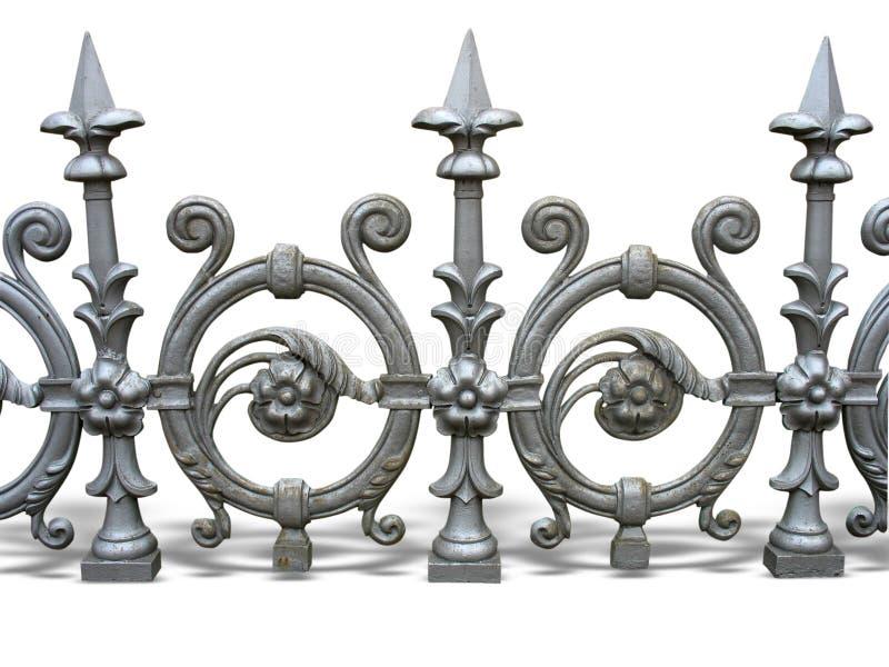 falskt dekorativt staket arkivbild