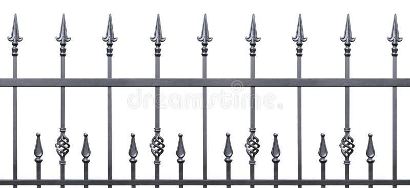 Falskt dekorativt staket isolerad horisontalpanorama royaltyfria bilder