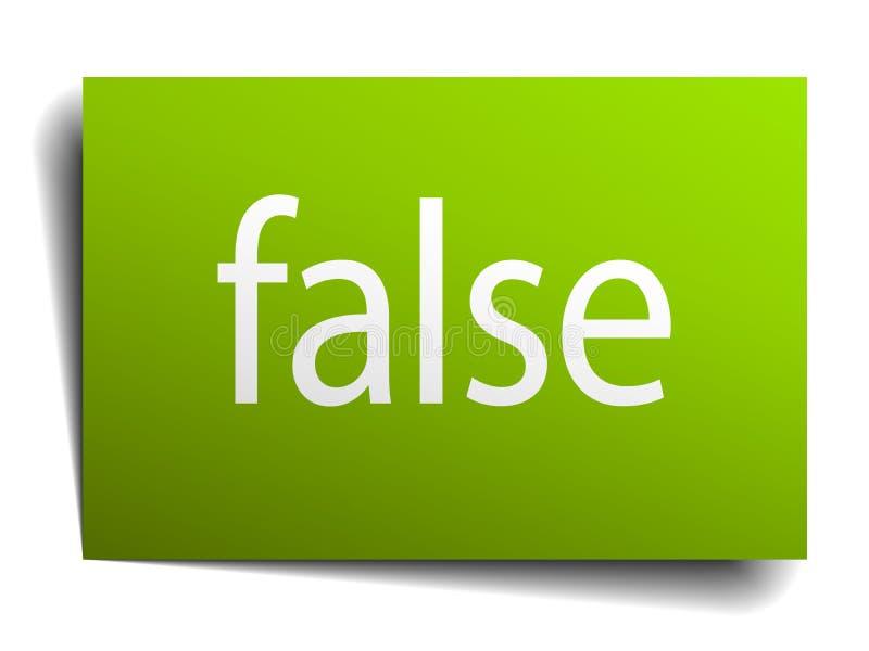 falskt tecken vektor illustrationer