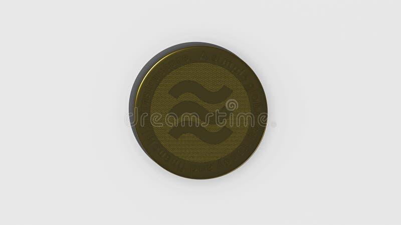 Falso para arriba de una moneda del cryptocurrency del libra fotografía de archivo